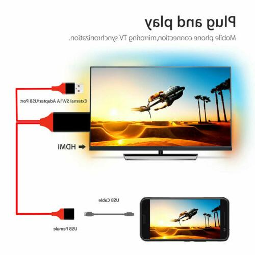 1080P Phone TV Adapter iPhone iPad/ Android
