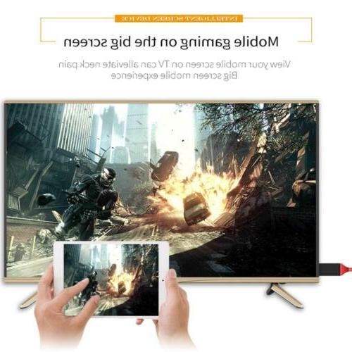 1080P HDMI Mirroring Cable Phone to TV Adapter iPad/ Android