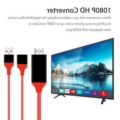 1080P HDMI Phone to TV Adapter 11/ iPad/ Android