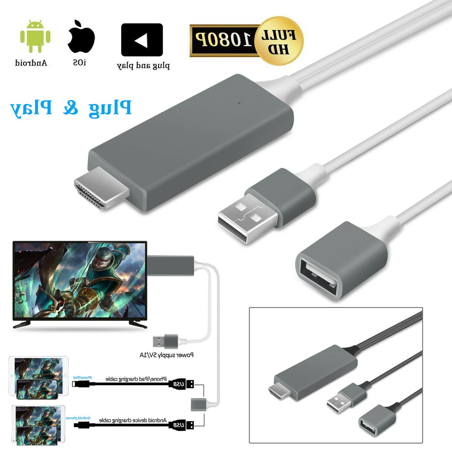 1080p hdmi mirroring cable phone to tv
