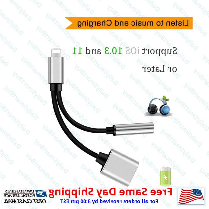 2-in-1 Splitter and Lightning Charger AUX For X 7 Plus
