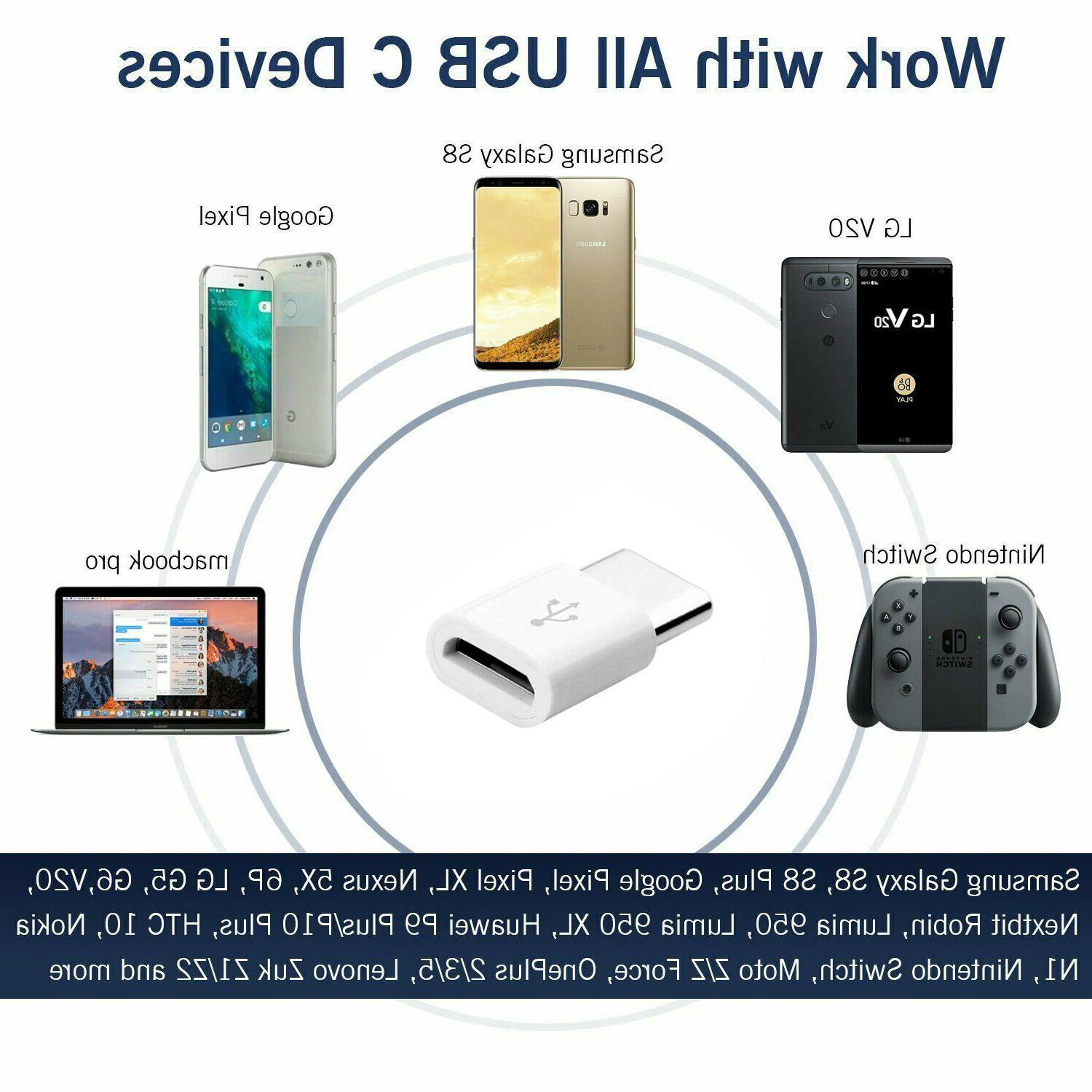 2 Micro to Adapter Converter Micro-B to USB-C Connector