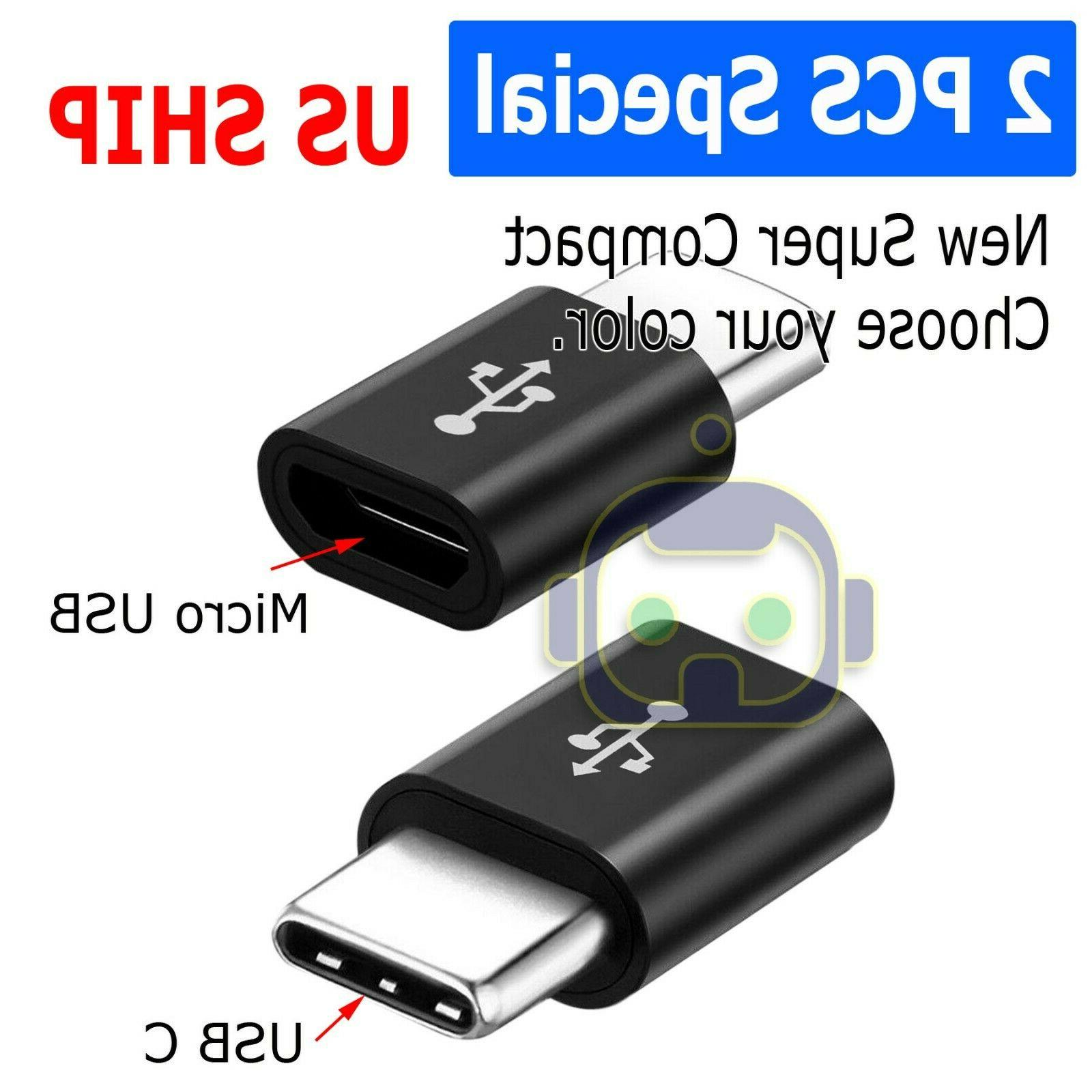 2 pack micro usb to type c