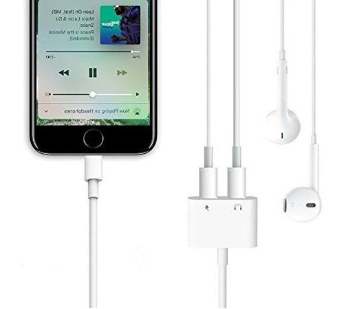 2in1 Splitter Earphone For Apple iPhone US