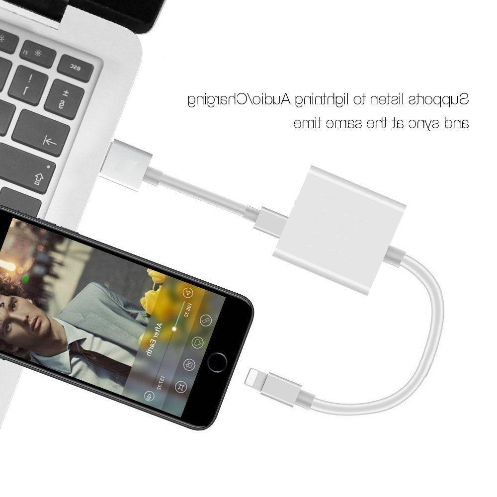 2in1 Dual Lightning Splitter Earphone For Apple