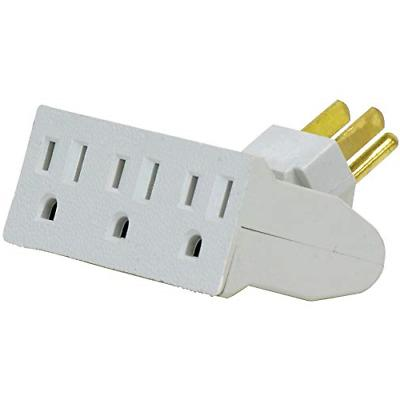 3 outlet wall adapter tap swivel grounded