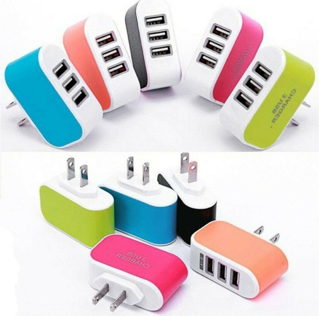 3 Charger Station Travel AC Power for Universal Cell Phone
