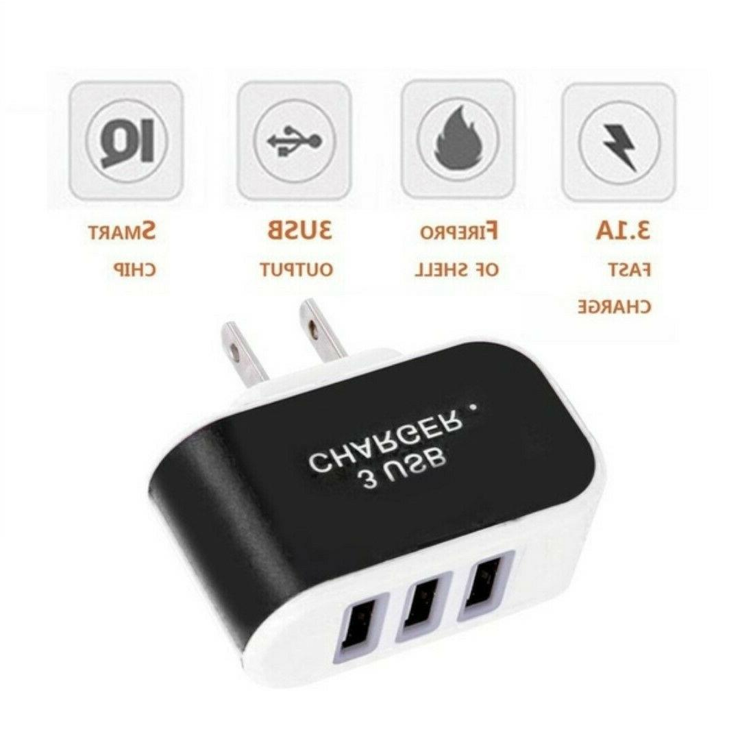 3 Port Charger Power Cell Phone