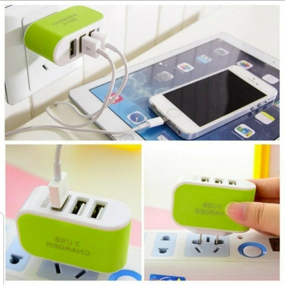 3 Charger Travel Power Adapter for Cell Phone