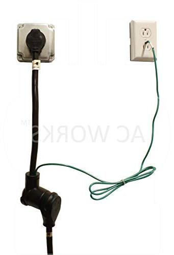 AC WORKS 1.5FT 30Amp Dryer 4-Prong Adapter