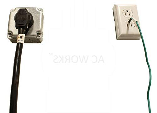 AC 30Amp Plug to 4-Prong Adapter