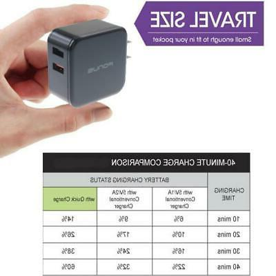 30W FAST 2-PORT USB HOME CHARGER for PHONE /