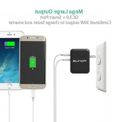 30W ADAPTIVE FAST USB HOME TRAVEL CHARGER COMPACT / TABLET