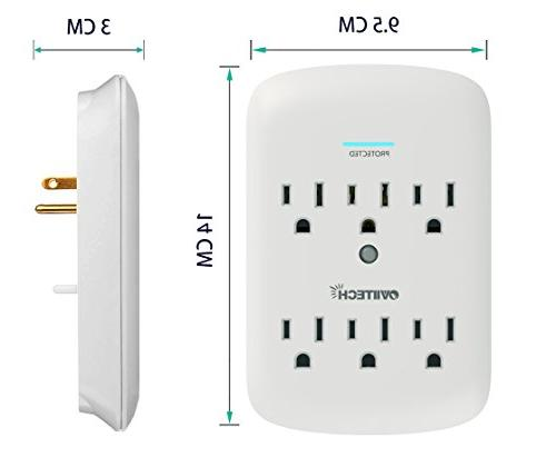 6-Outlet Plug Protector Wall Mount Adapter, Joules thanksgiving Outlets Friday Pack