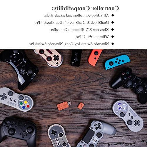 FastSnail 8Bitdo Wireless Adapter with Nintendo Pi, Golden OTG Cable