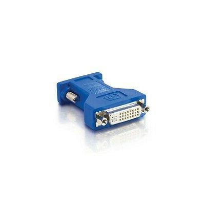 C2G 26957 DVI Female to VGA  Male Video Adapter, Blue