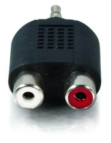 C2G Male Dual Female Adapter, Compliant,