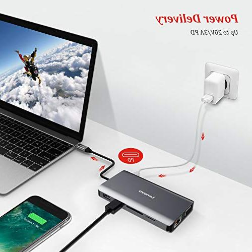 Lenovo C Type With 4K HDMI, Gigabit Ethernet, C USB 2.0, SD/TF Card Reader, Audio For USB