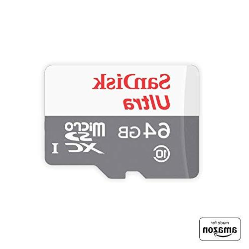 """""""Made for Amazon"""" SanDisk 64 GB micro SD Memory Card for Fir"""