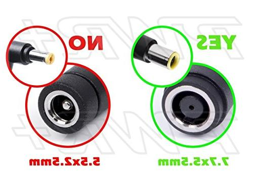 PWR+ Standard Power for Lenovo 0B47048 Tip Adapter Converter for Lenovo Thinkpad 7.7mm to ADLX45NLC3A Laptop