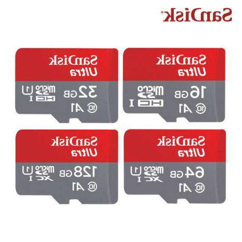 SanDisk Ultra 32GB 32G A1 Micro SD SDHC Card 100MB/s SDHC UH