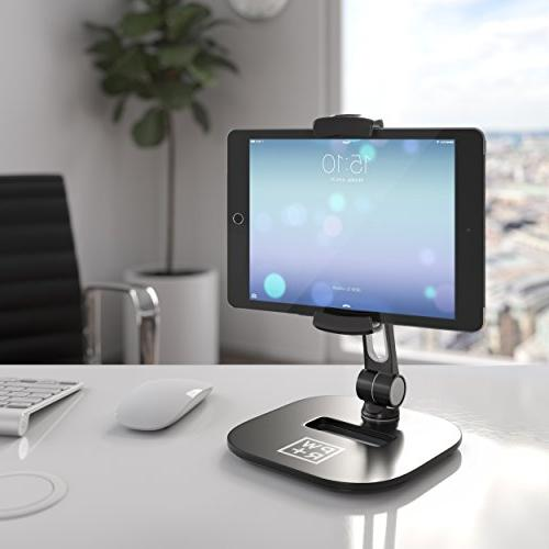 "Tablet and Holders Adjustable: Stylish Cell Degree Swivel Rotation for 4-11"" iPad Galaxy POS Kitchen Bedside Table Reception"