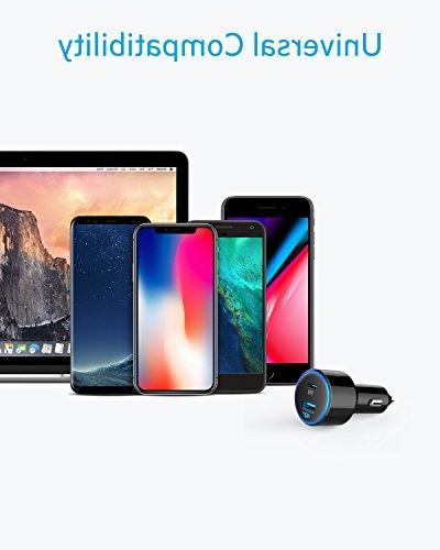 Anker 49.5W 2 Car One for Pro/Air iPad Pro , iPhone XS/Max/XR/X/8, and One Fast S9/S8 and