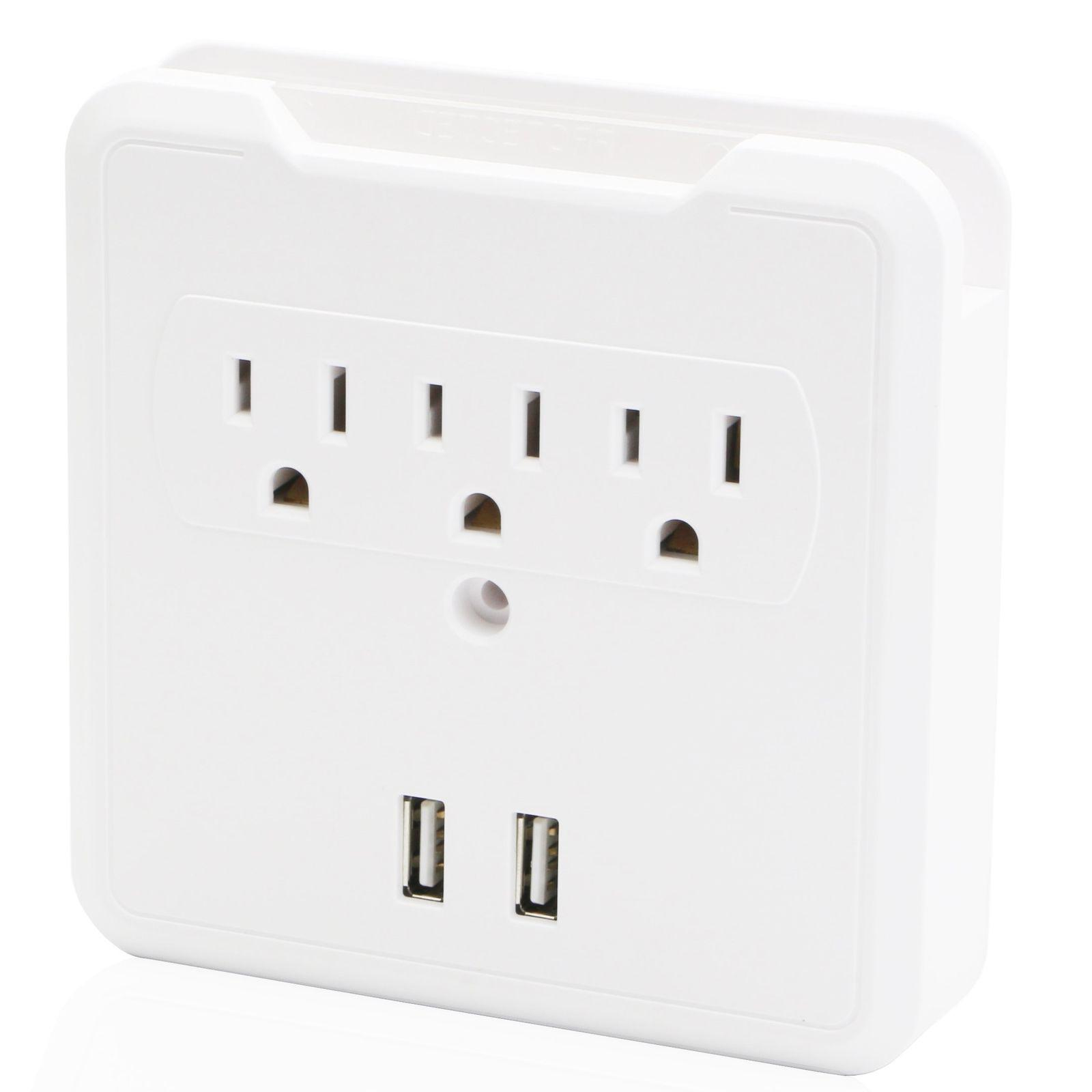 USB Outlet Plug Tap Electrical Surge
