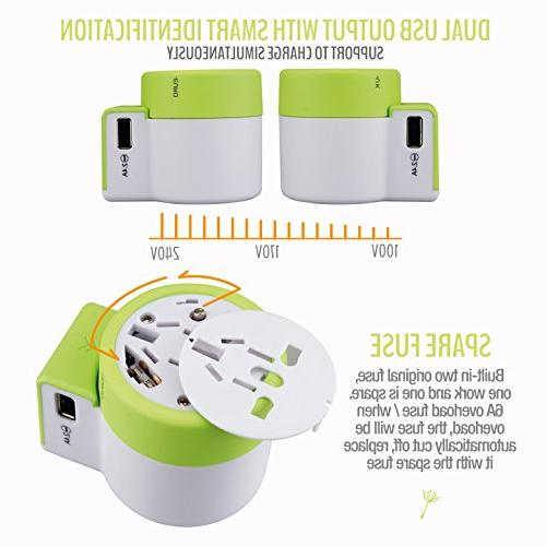 Dandelion Travel Adapter Wall Charger Ports Adaptor for Type G