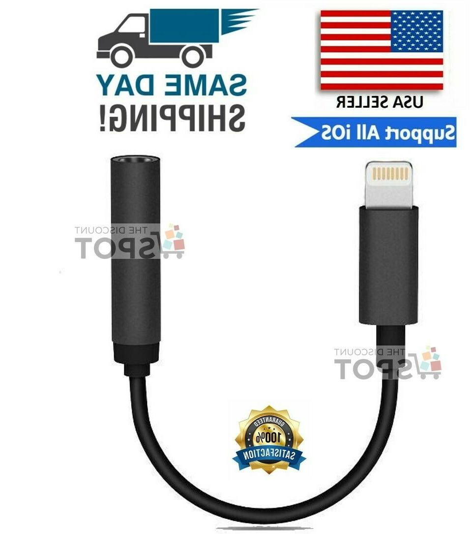 apple aux adapter jack lightning to