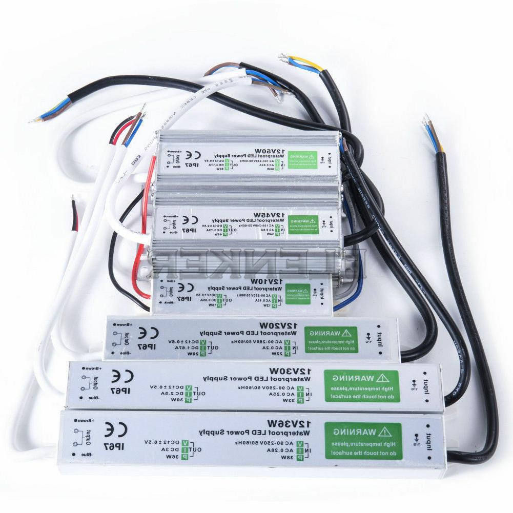 AC- DC 12V Outdoor Waterproof Transformer Power Supply Adapt
