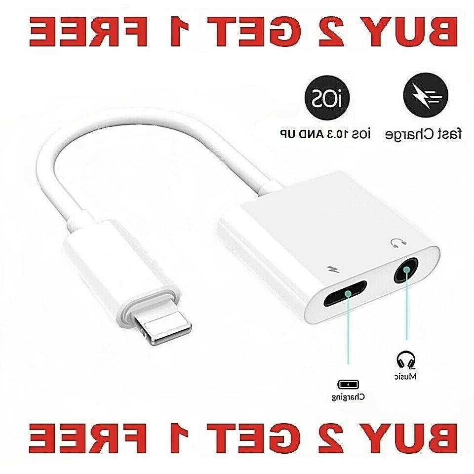 dual adapter for iphone charger and headphone