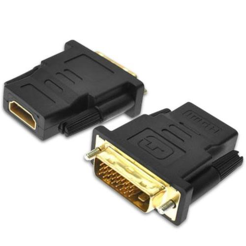 DVI-D Link 24+1 Male HDMI Audio Adapter Connector