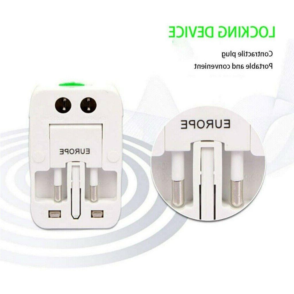 Electric Plug Power Socket Adapter Travel Charger Converter FD8