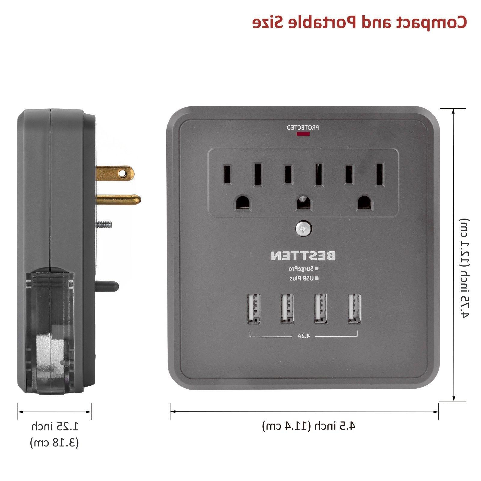 Electrical 3/4 USB Port Tap Surge Charger