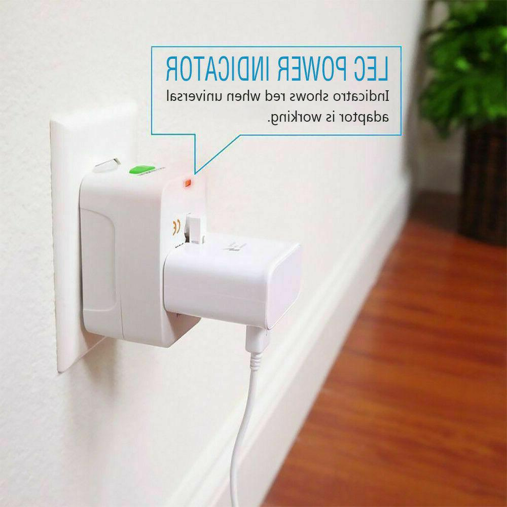 Electrical US/EU Purpose Adapter Converter AC Plug
