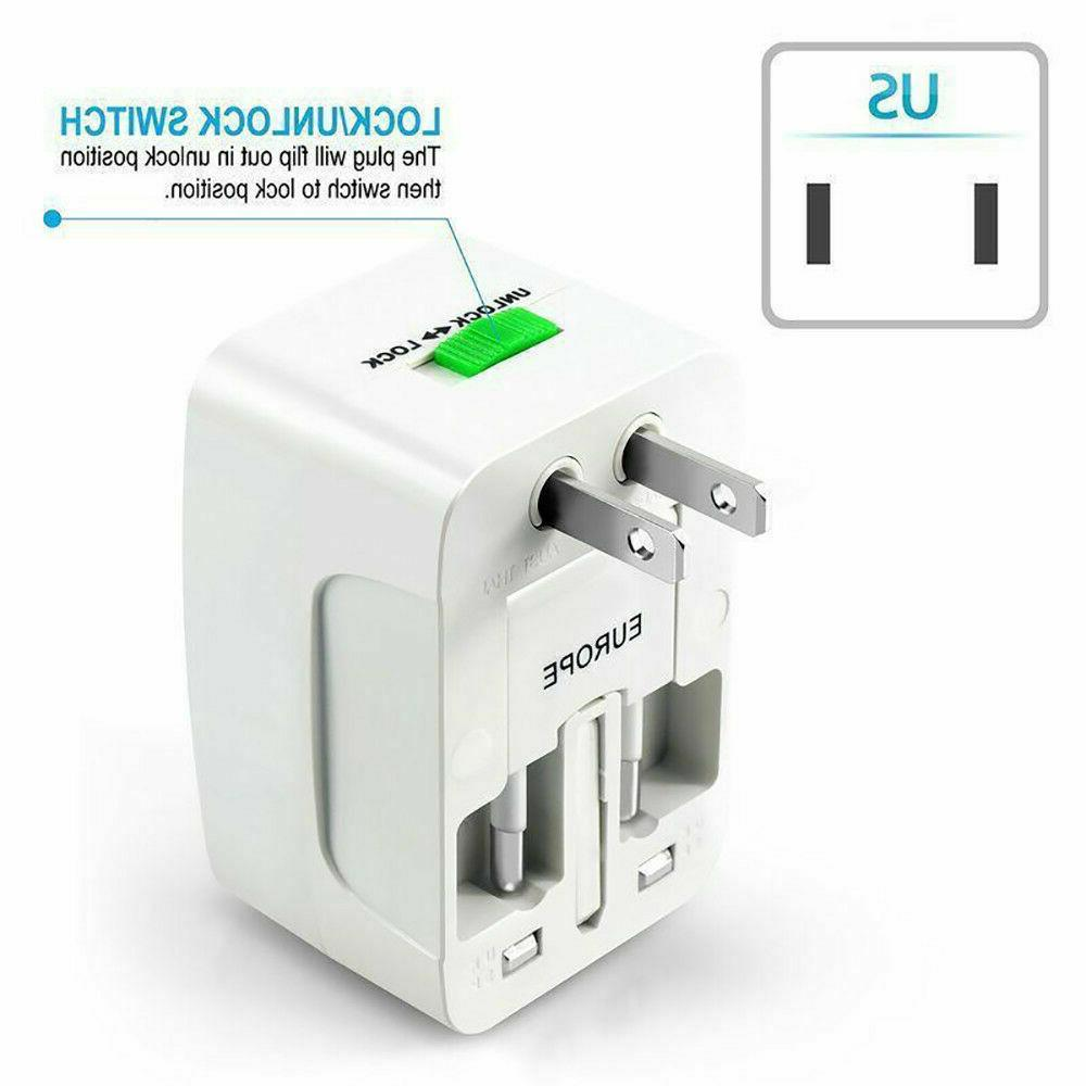 Electrical US/EU Universal Purpose Travel Adapter Converter AC Power
