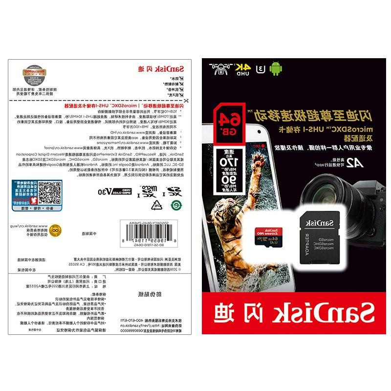 <font><b>SanDisk</b></font> 64GB UHS-I Card micro SD Card TF Up to With <font><b>Adapter</b></font>
