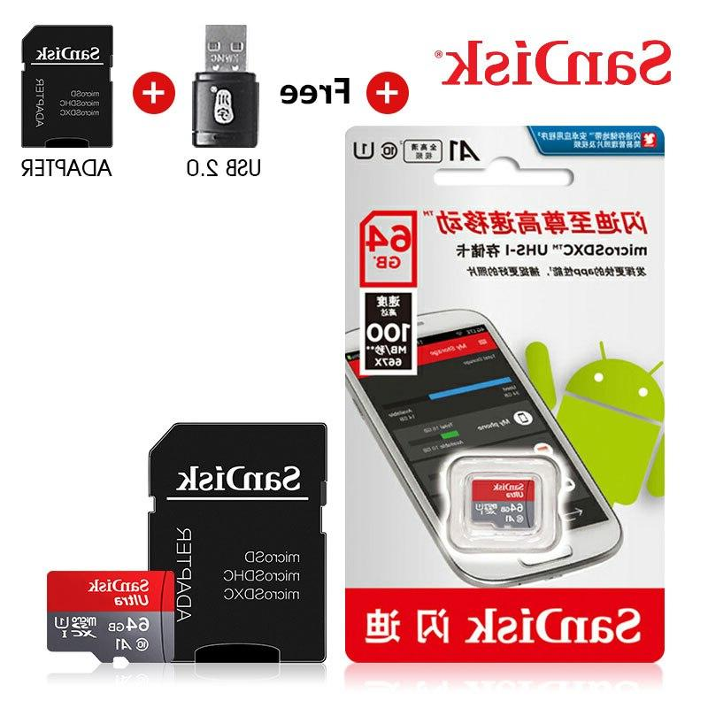 <font><b>Sandisk</b></font> 128GB SDXC card 32GB card 100mb/s card <font><b>adapter</b></font>