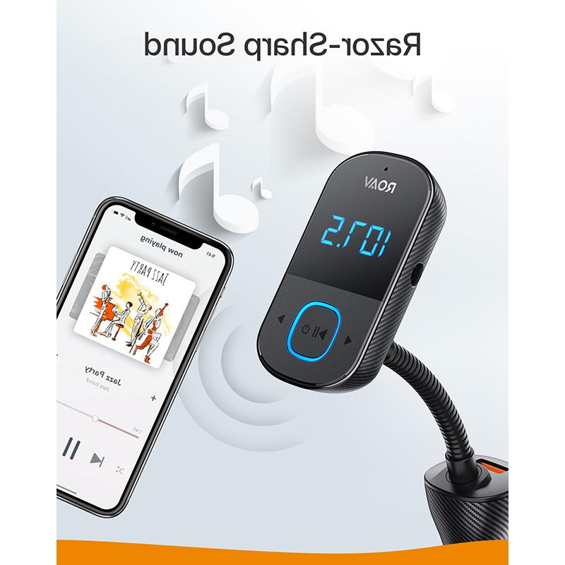 <font><b>Anker</b></font> Roav Bluetooth FM Transmitter Car, <font><b>Adapter</b></font> and Receiver Big LED Display,