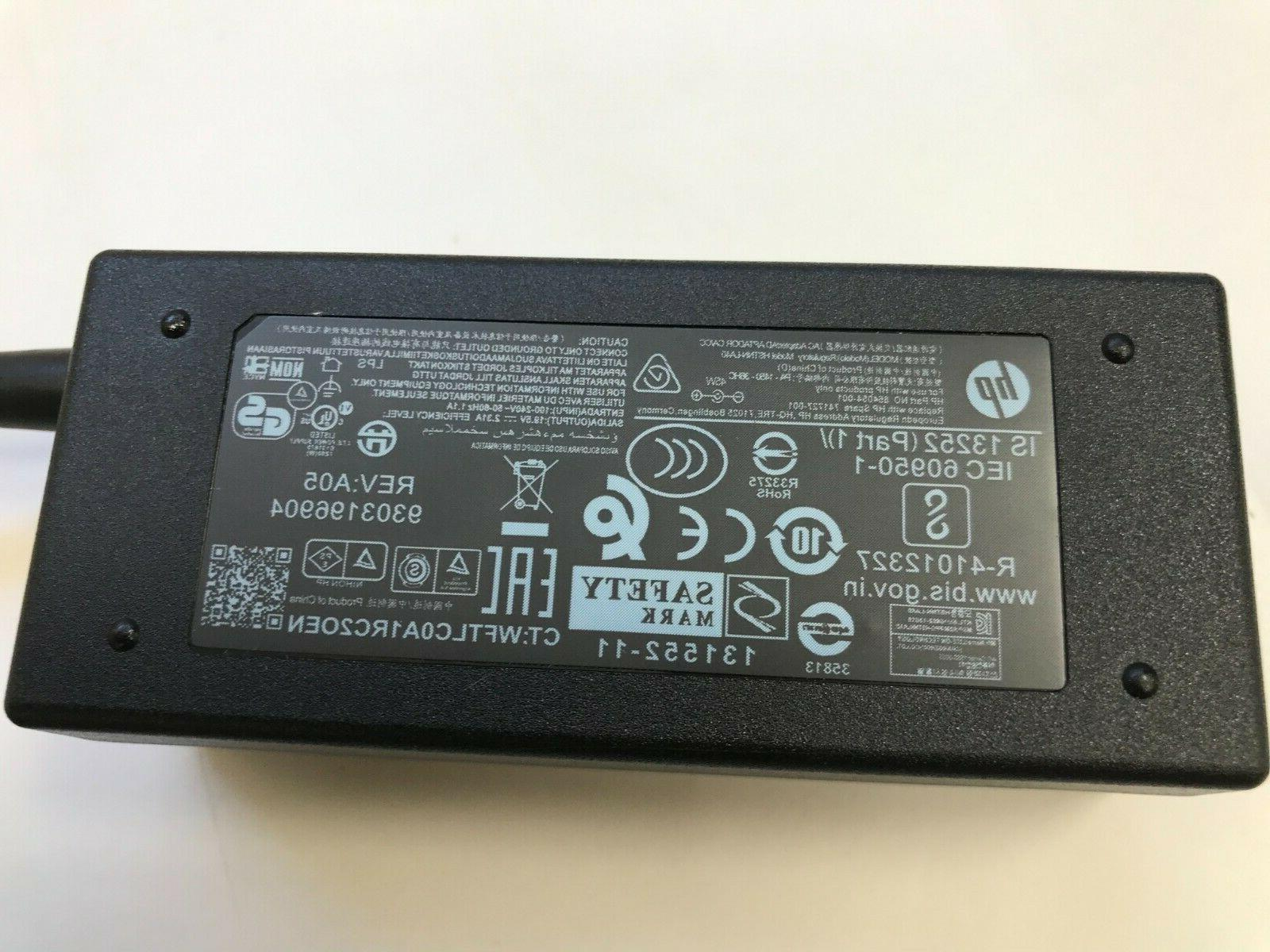 Genuine HP Adapter Laptop Charger 854054-001