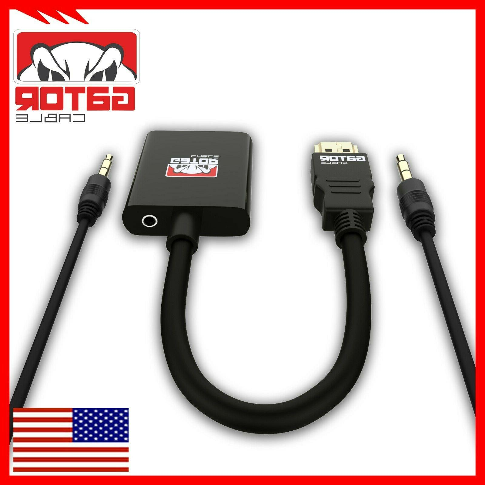 HDMI to VGA Video Audio with 3.5mm Connector 1080P