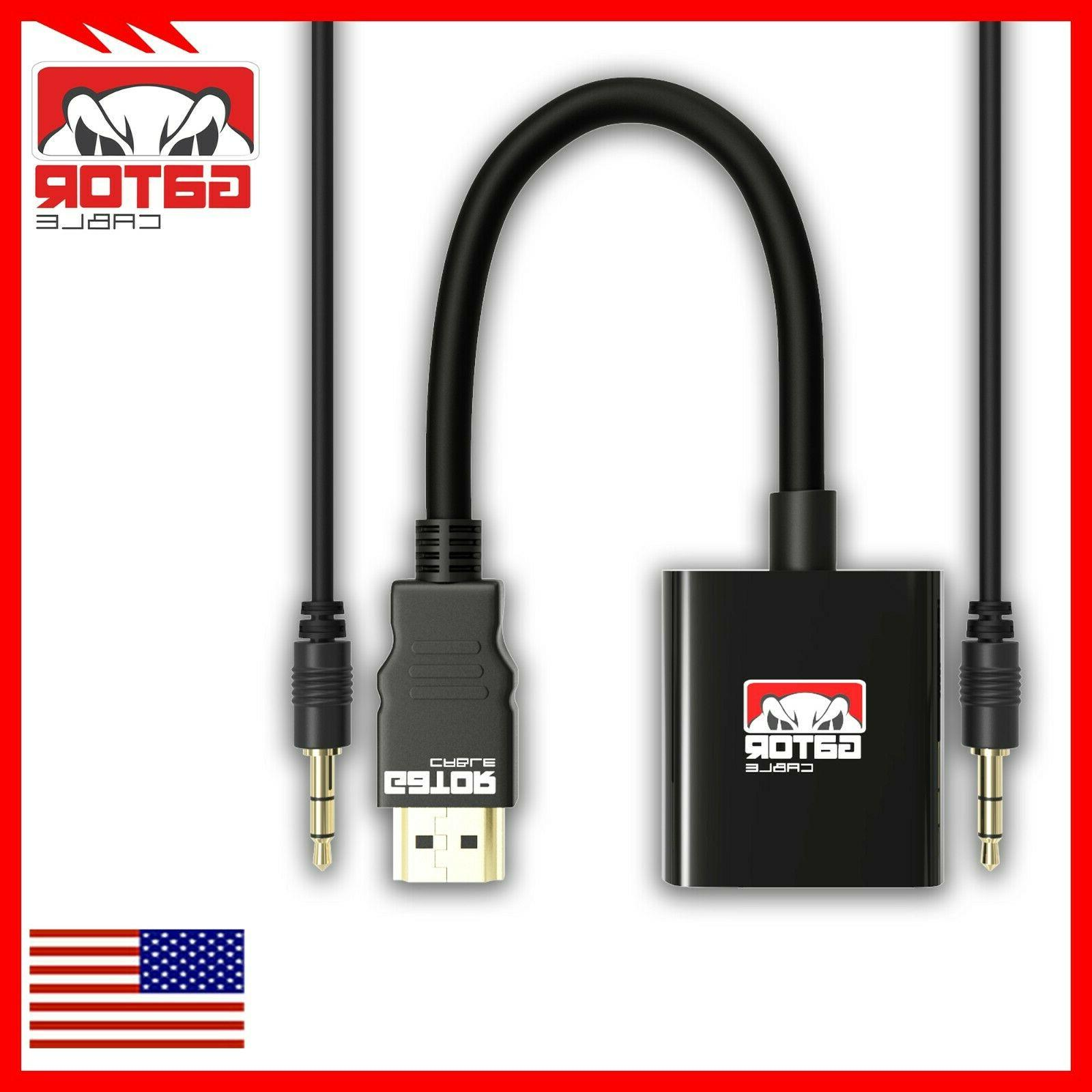 HDMI Video Audio with AUX 3.5mm Cable 1080P