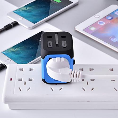 International Adapter Converters Universal Plug 2 Charger Worldwide in One AC for EU UK AU 160