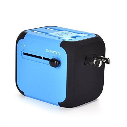 International Travel Adapter Converters Plug USB Wall Charger Worldwide One for European US UK