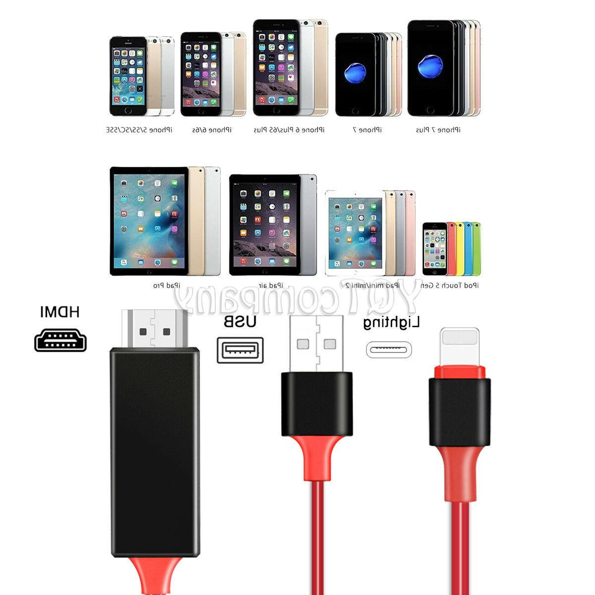 Lightning to HDMI Adapter Cable Cord For iPhone