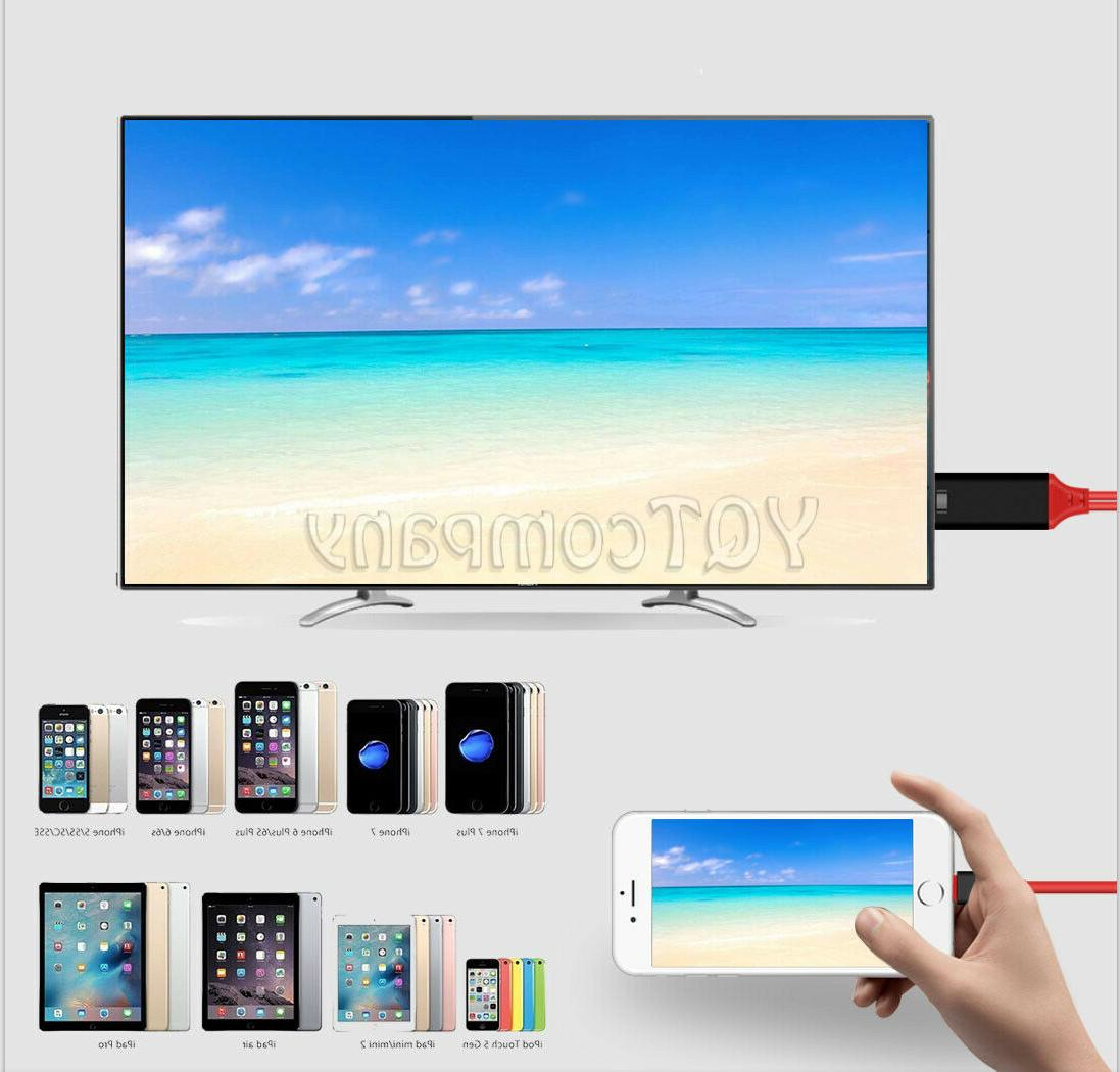 Lightning 1080p HDMI HDTV Adapter Cable iPhone 6/7/8/x