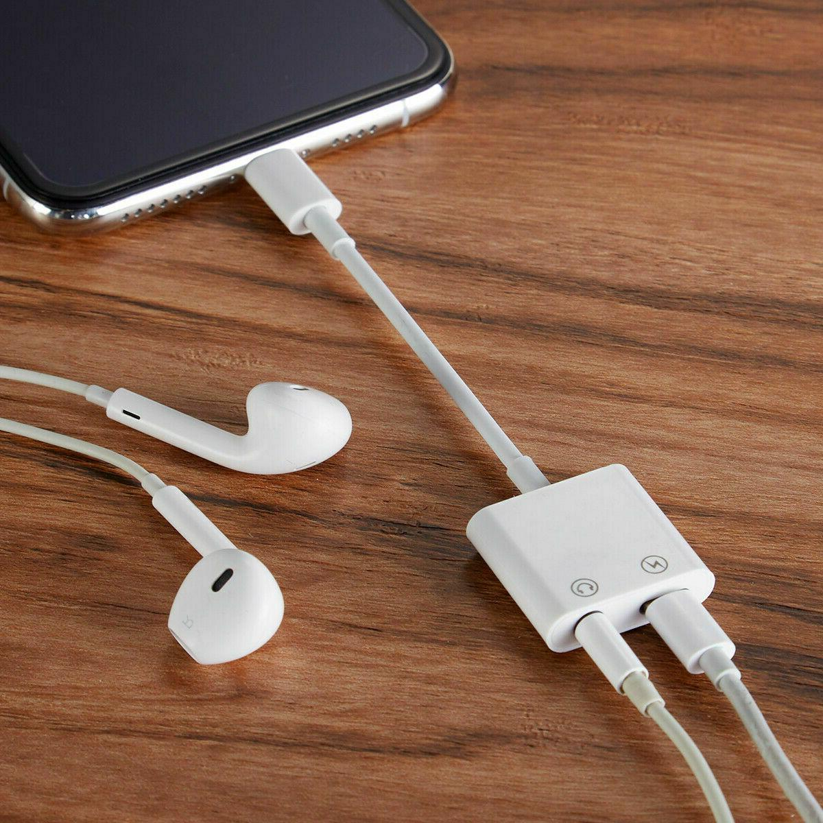 Apple Lightning 3.5mm Headphone AUX - & MUSIC iPhone iPad