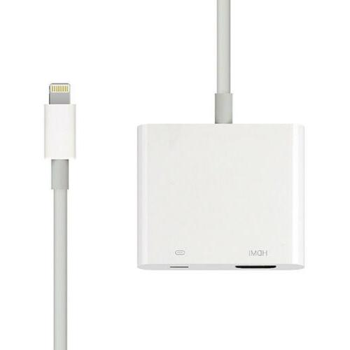 Lightning AV TV Cable Adapter For Apple X 6 7