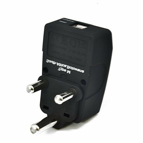 Ceptics USA to South Africa Travel Adapter plug - 4 in 1 - 2
